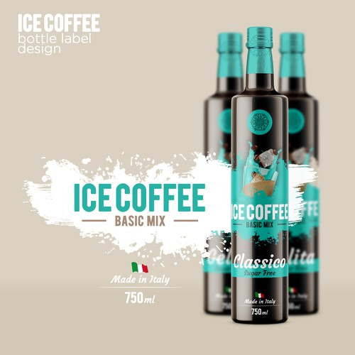 Ice Coffe Label Design