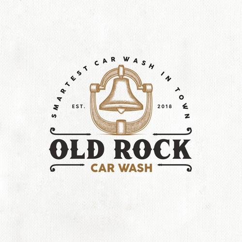 "Logo design concept for a car wash company ""Old Rock"""