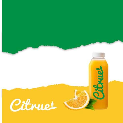 Bold logo for juice company
