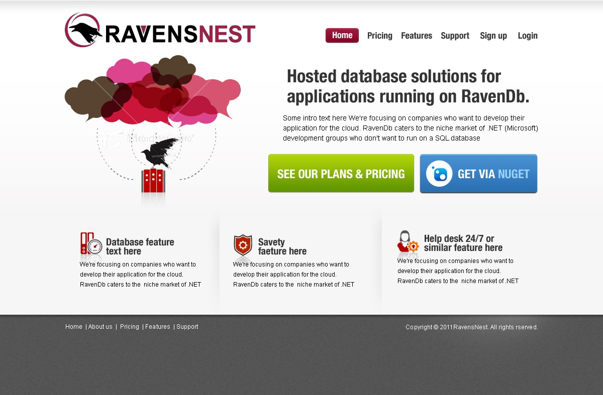 New website design wanted for Raven's Nest