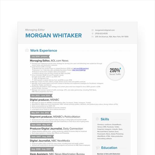 CV Resume for News Manager