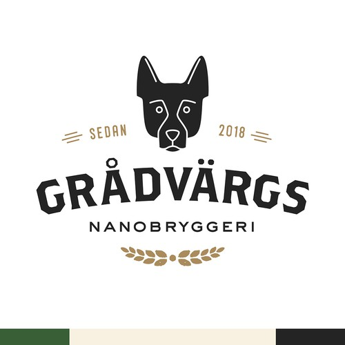 Logo design for a nano brewery in Sweden.