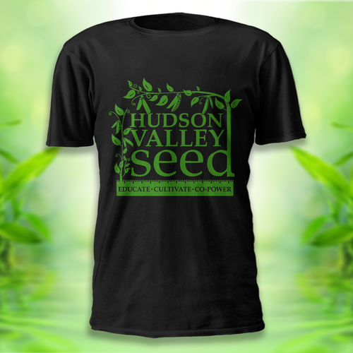 T-shirt design for school garden non profit, Hudson Valley Seed!