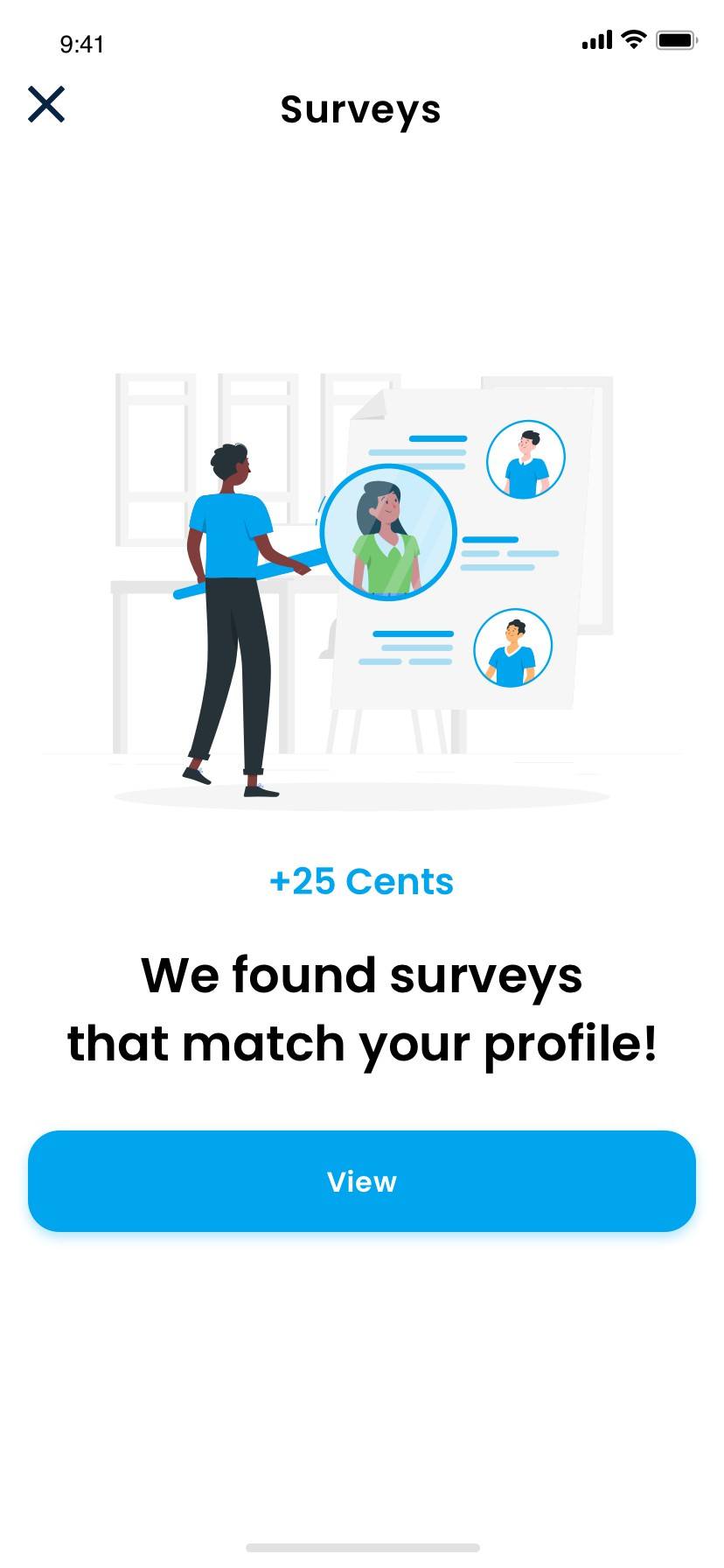 Mobile App Screen - Survey Wall Phase #2