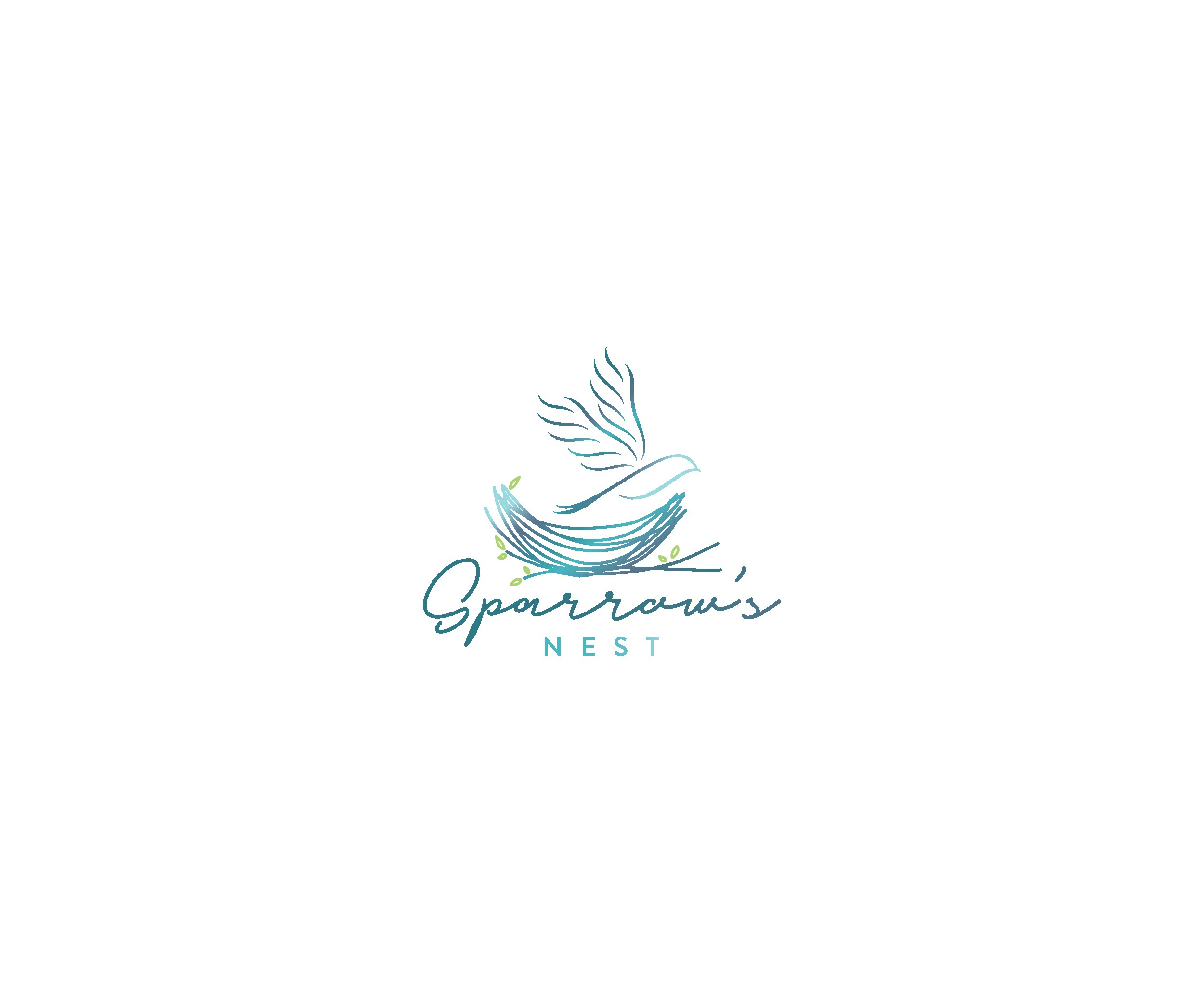 """""""Sparrow's Nest"""" calming logo to inspire peace to battered and at-risk pregnant women"""