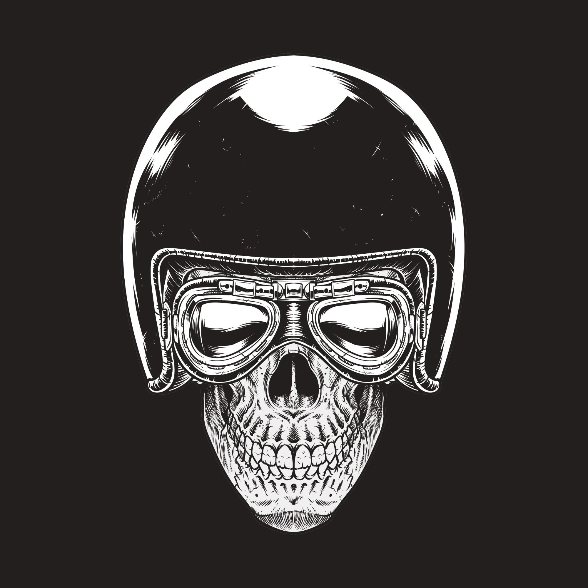 Biking Skull Bandit