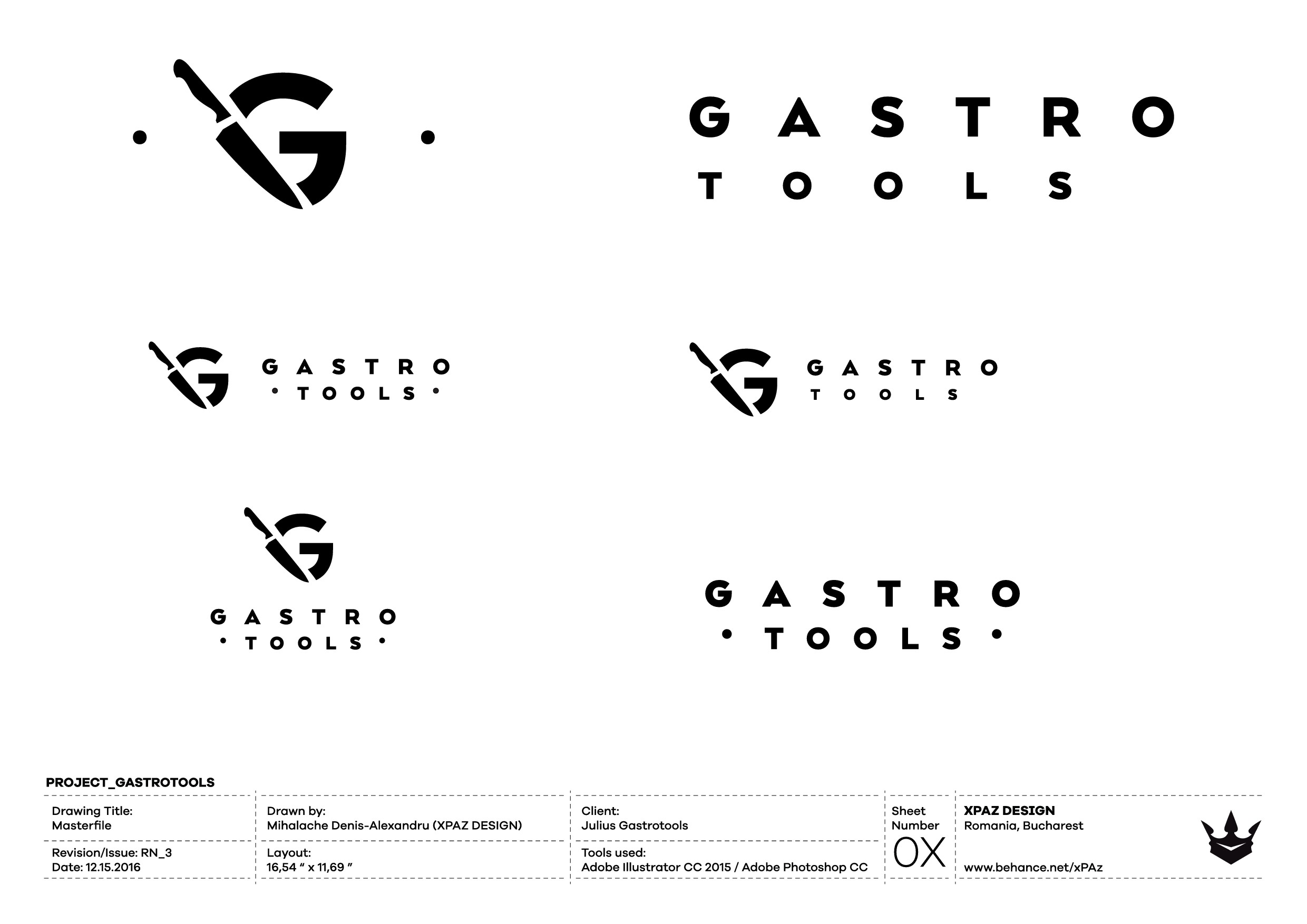 Exclusive logo for kitchen tools (mainly knives)