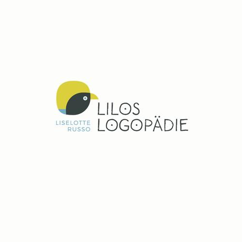 Logo für eine sprachtherapeutische Praxis, in der vor allem Kinder behandelt werden