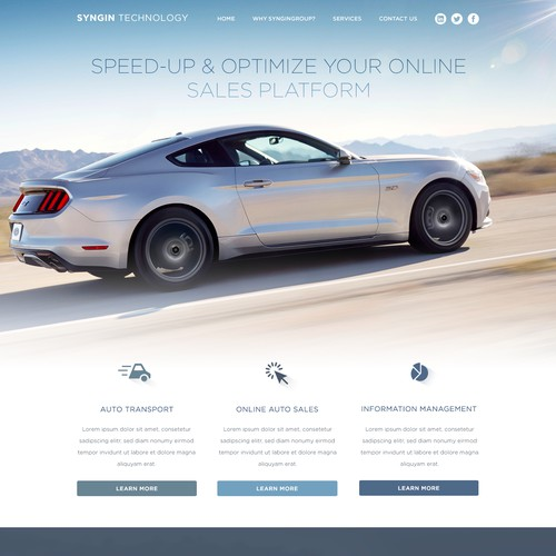 Landing Page & Web Design for Tech Company