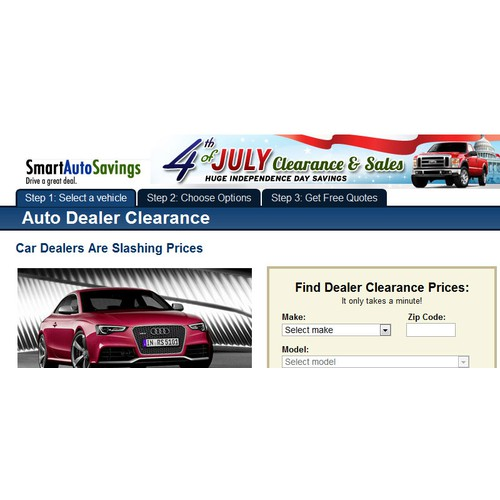 Design a banner ad for a cool Automotive Website