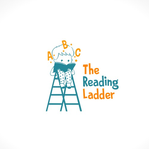 The reading ladder logo concept