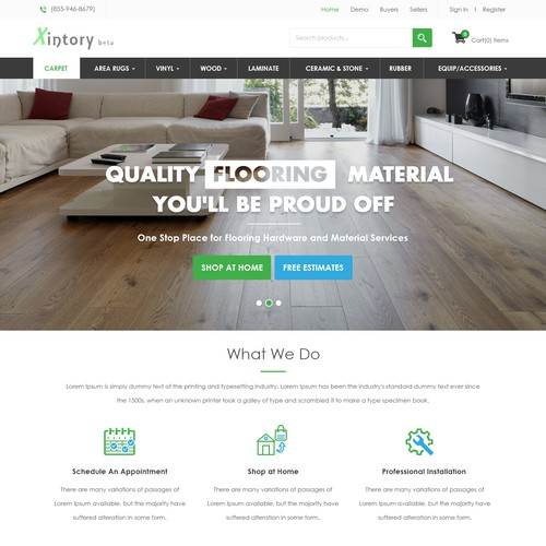 B2B E commerce website for wooden Flooring