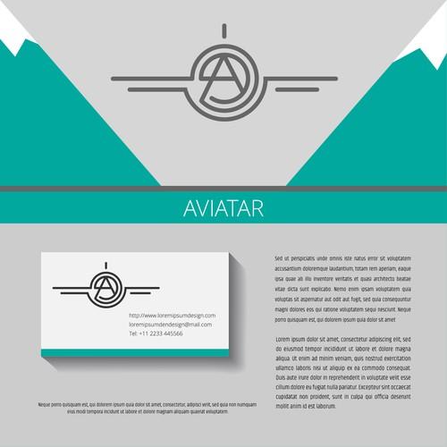 Logo design for avia company