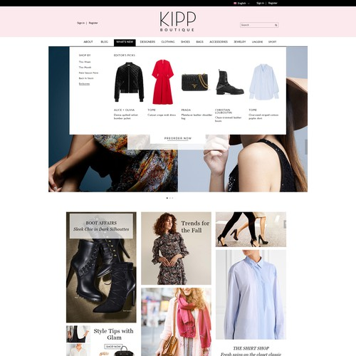 Women's Fashion Boutique Website