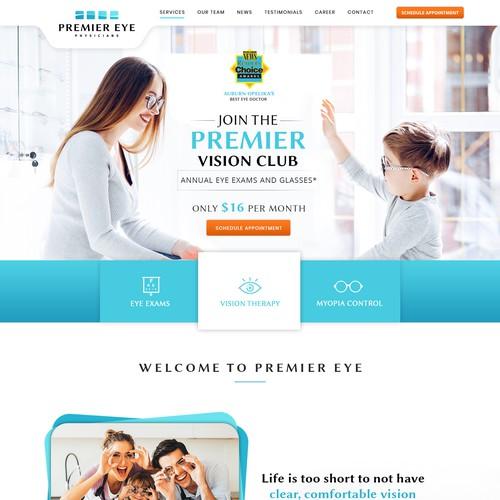 Web Banner Redesign for Premier Eye Associates