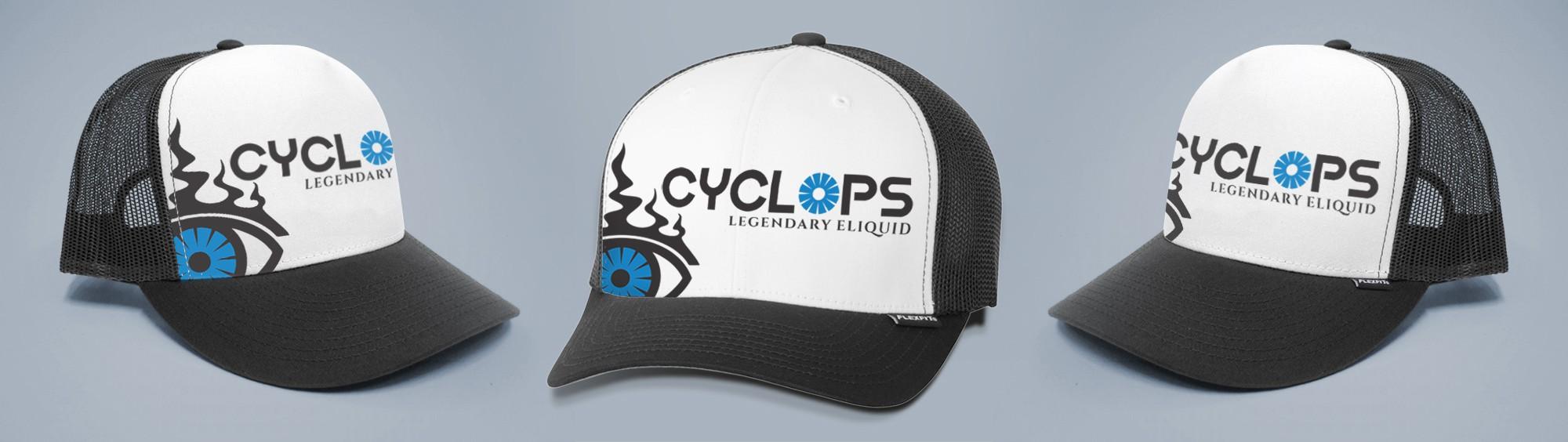 Creative hat design - Cyclops Vapor branding
