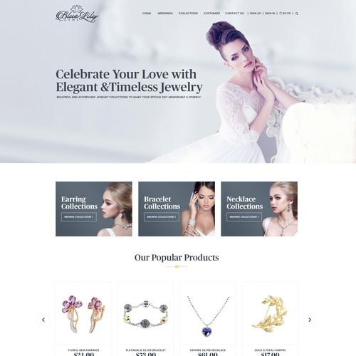 Wedding Jewelry Website Home Page