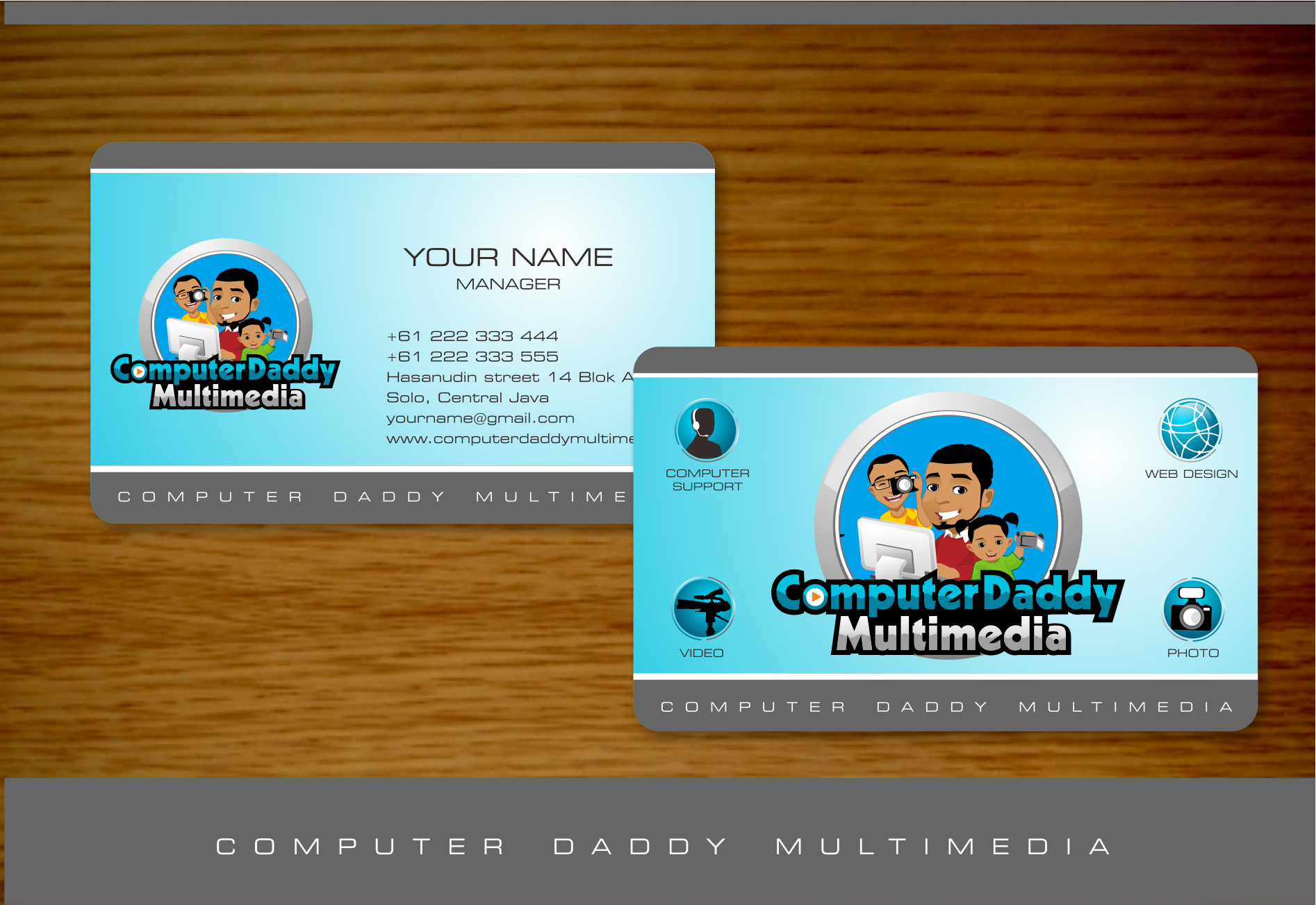 Illustrative logo wanted for Computer Daddy Multimedia [ideas and examples provided!]