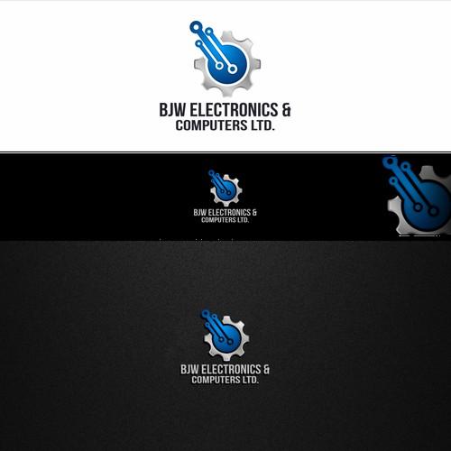Bold logo for BJW electronics
