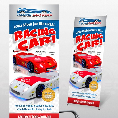 Create brilliant signage for Childrens Race Car Beds
