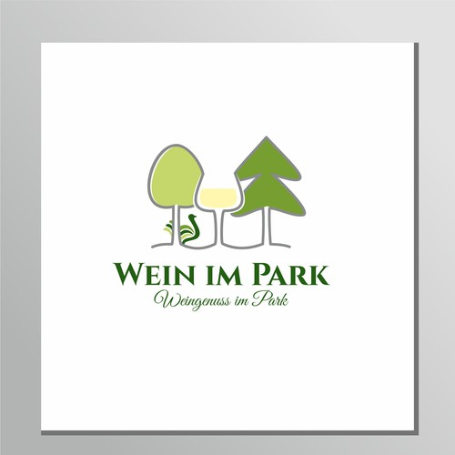 """Logoconcept for event """"wine in park"""" ."""