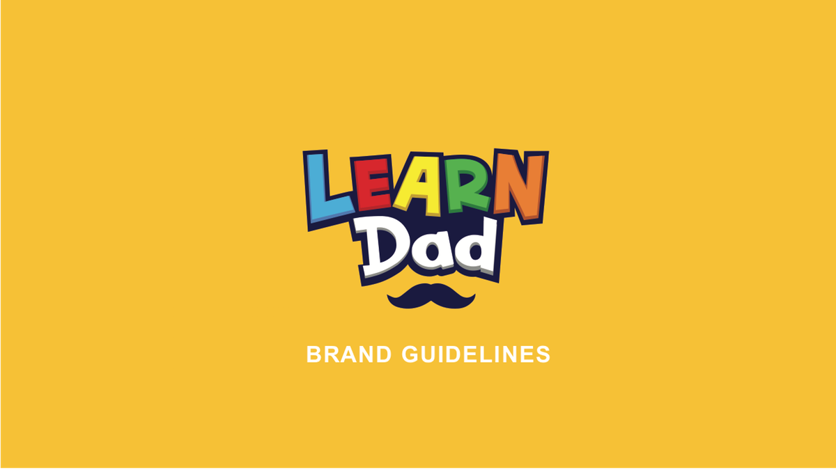 Learn Dad Brand Guide & Additional Logo Icons with Background