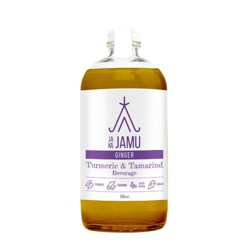 Tonic beverage label design