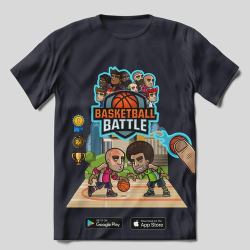 Basketball Battle Shirt Design