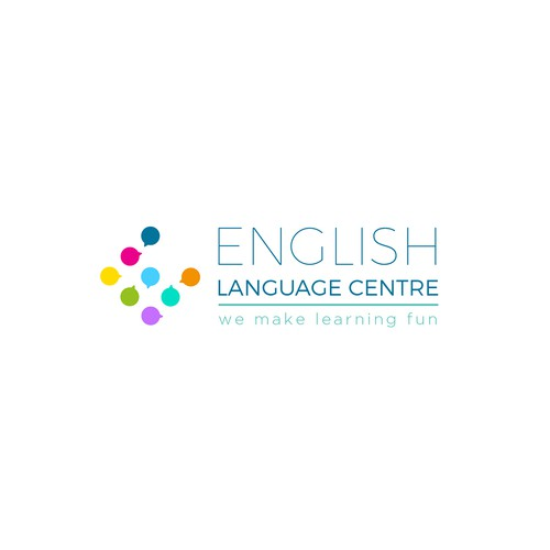 Logo for a  new English language school based in France
