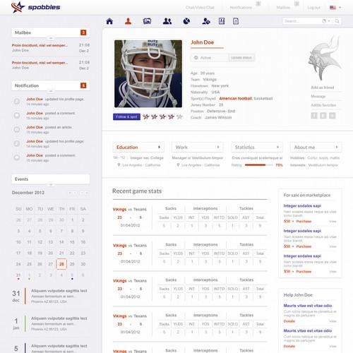 Create the next website design for Spobbles.com