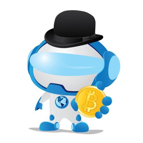 Bitcoin robot mascot