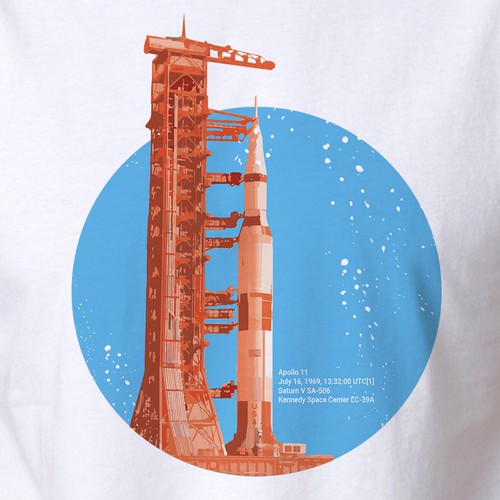 Saturn V t-shirt design
