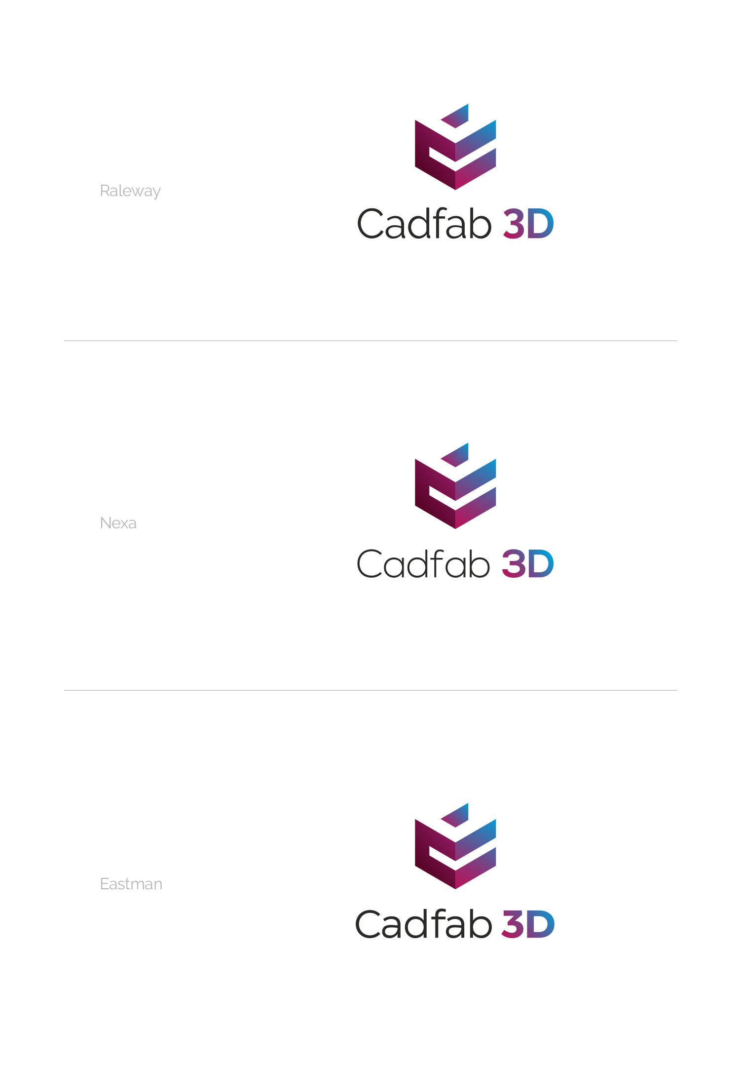 Create a logo for a 3D manufacturing center from Germany