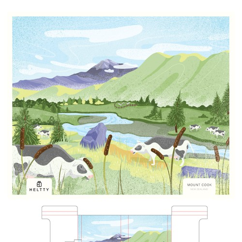 Heltty - Packaging Illustration