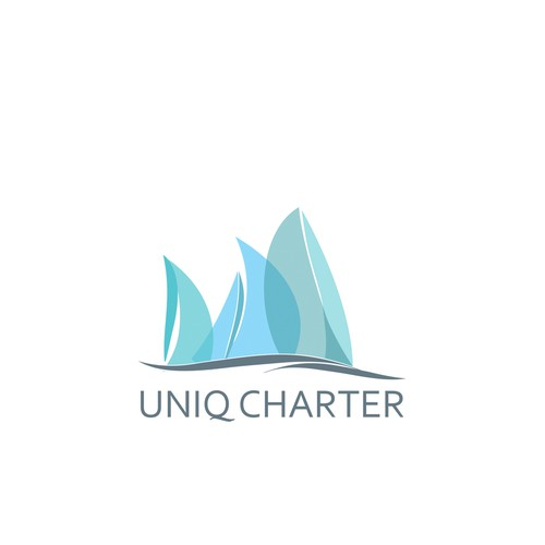 Logo concept for charter boat agency