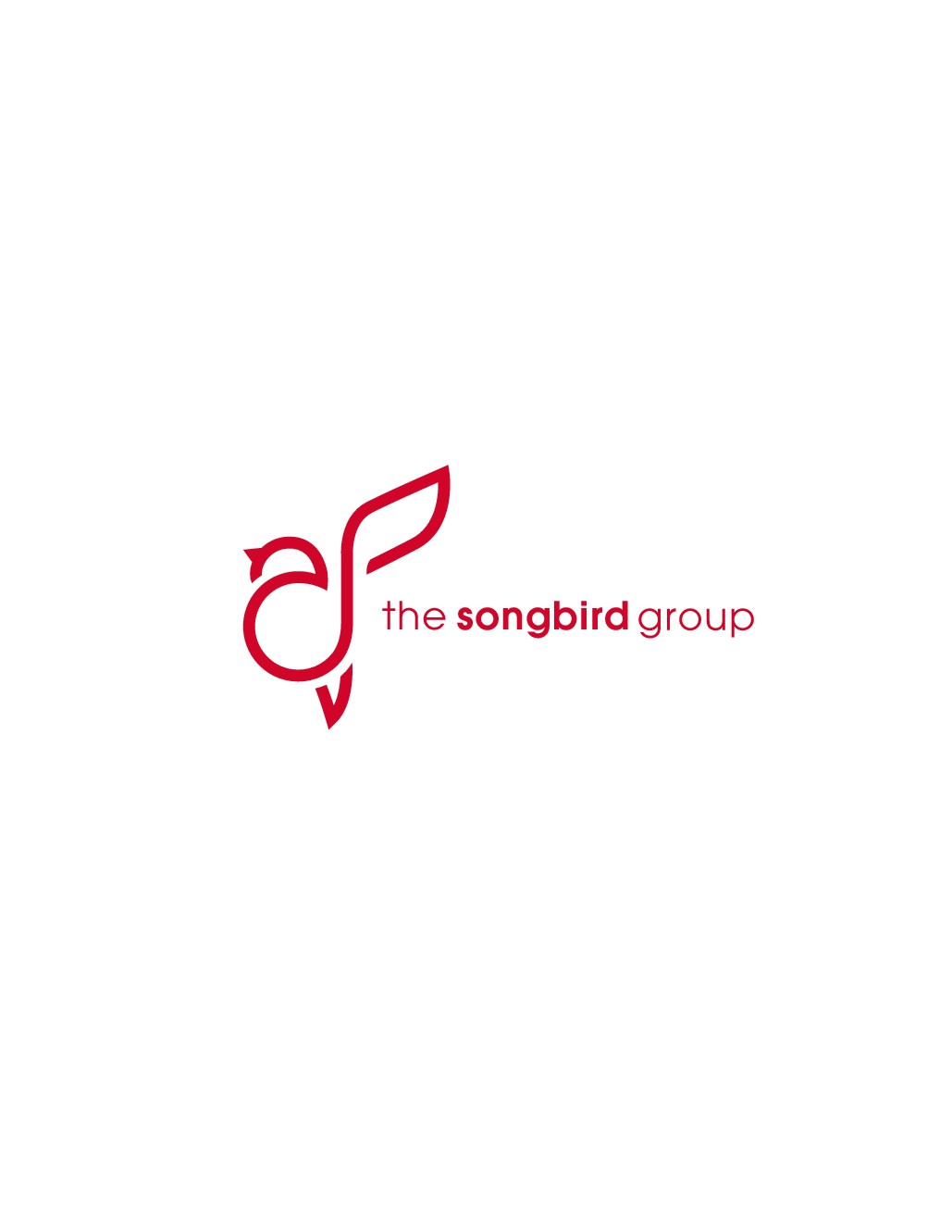 Design a modern logo that elicits songs of praise from The Songbird Group.