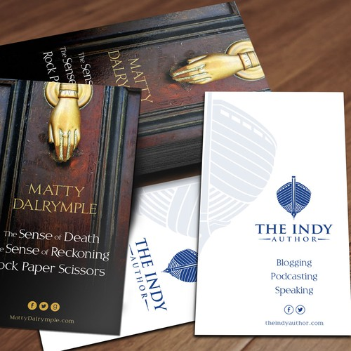Indy Author business card
