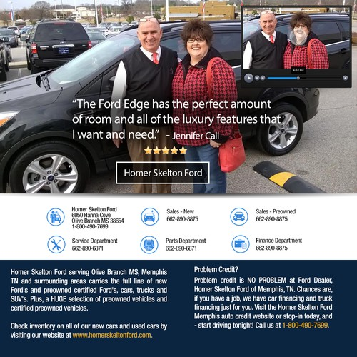 Create a Customer Reviews Landing Page for Auto Dealer