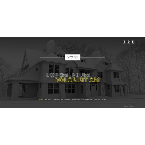 Landing page for VITA