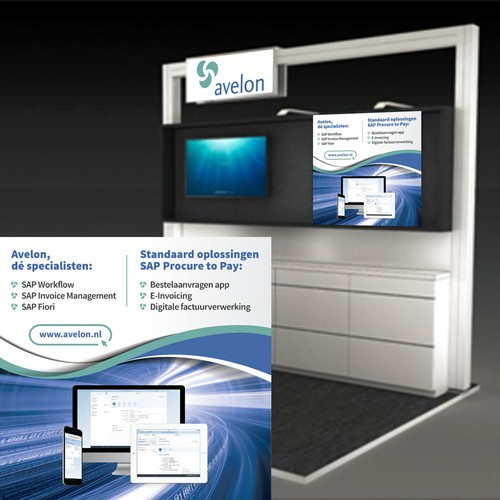 Design a powerful trade show booth graphic for an IT company