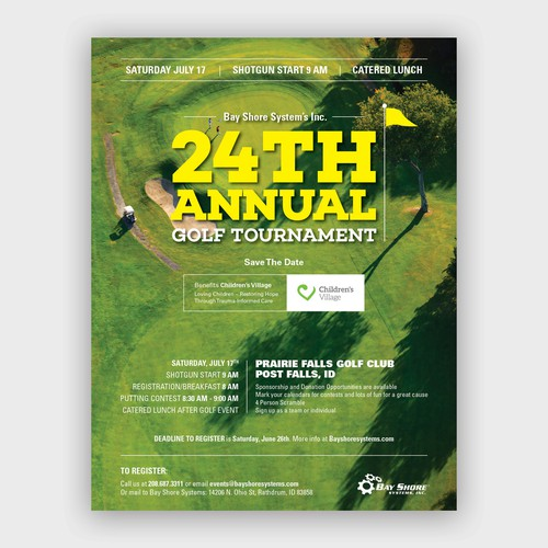 A4 poster to promote annual golf tournament