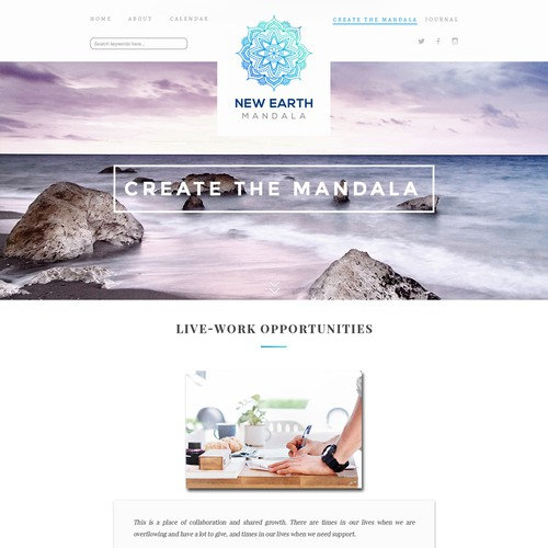 Website design for Kaimu Mandala