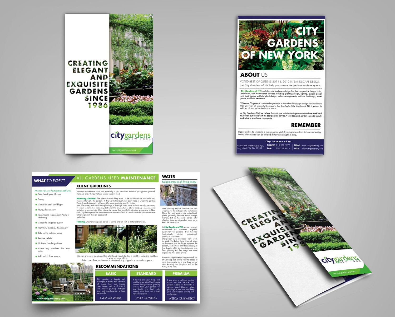 City Gardens of NY needs a new brochure design