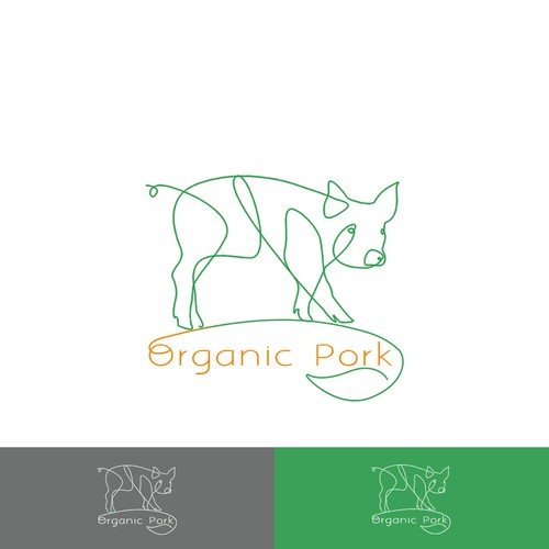 Organic logo for a meat distributor