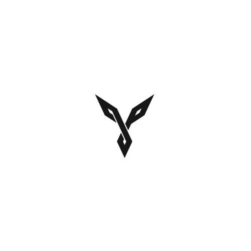 Modern Minimal JP Logo Design
