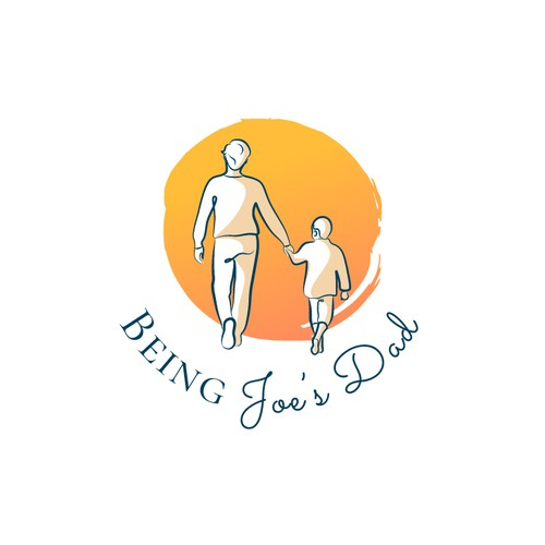 """Logo concept for a podcast """"Being Joe's Dad"""""""