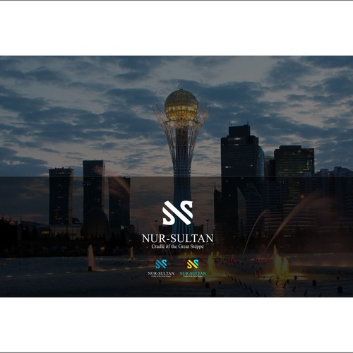 Modern logo for the capital of Kazakhstan - Nur-Sultan