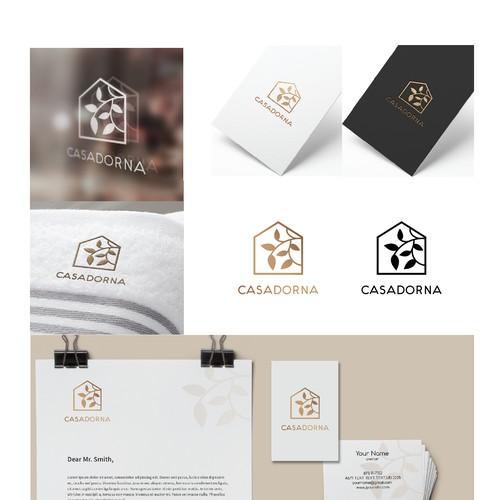 Charming filigree logo for home furnishing