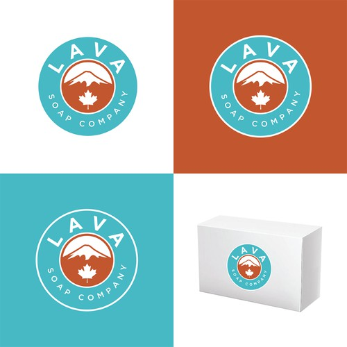 A volcano concept logo design for a soap and beauty company