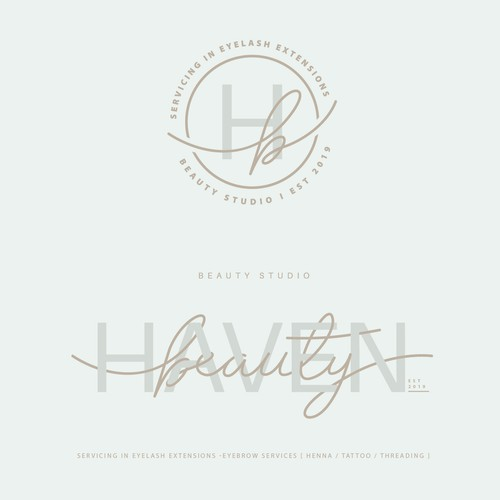 Logo BEAUTY HAVEN for beauty studio